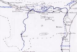 croquis voies romaines dans l'Aude.