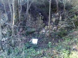 rampe enfouie, sud Salitis,prés ruisseau Conques nord