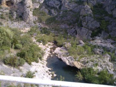 canyon de la Berre aprés carrefour de Ripaud